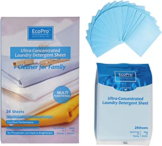 ECOPRO Portable Laundry Detergent Sheets For Skiing Camping Backpacking Traveling Going Via Plane