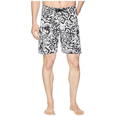 Columbia PFG Offshore II 9 inch Board Shorts (Black Deep Sea Batik) Men