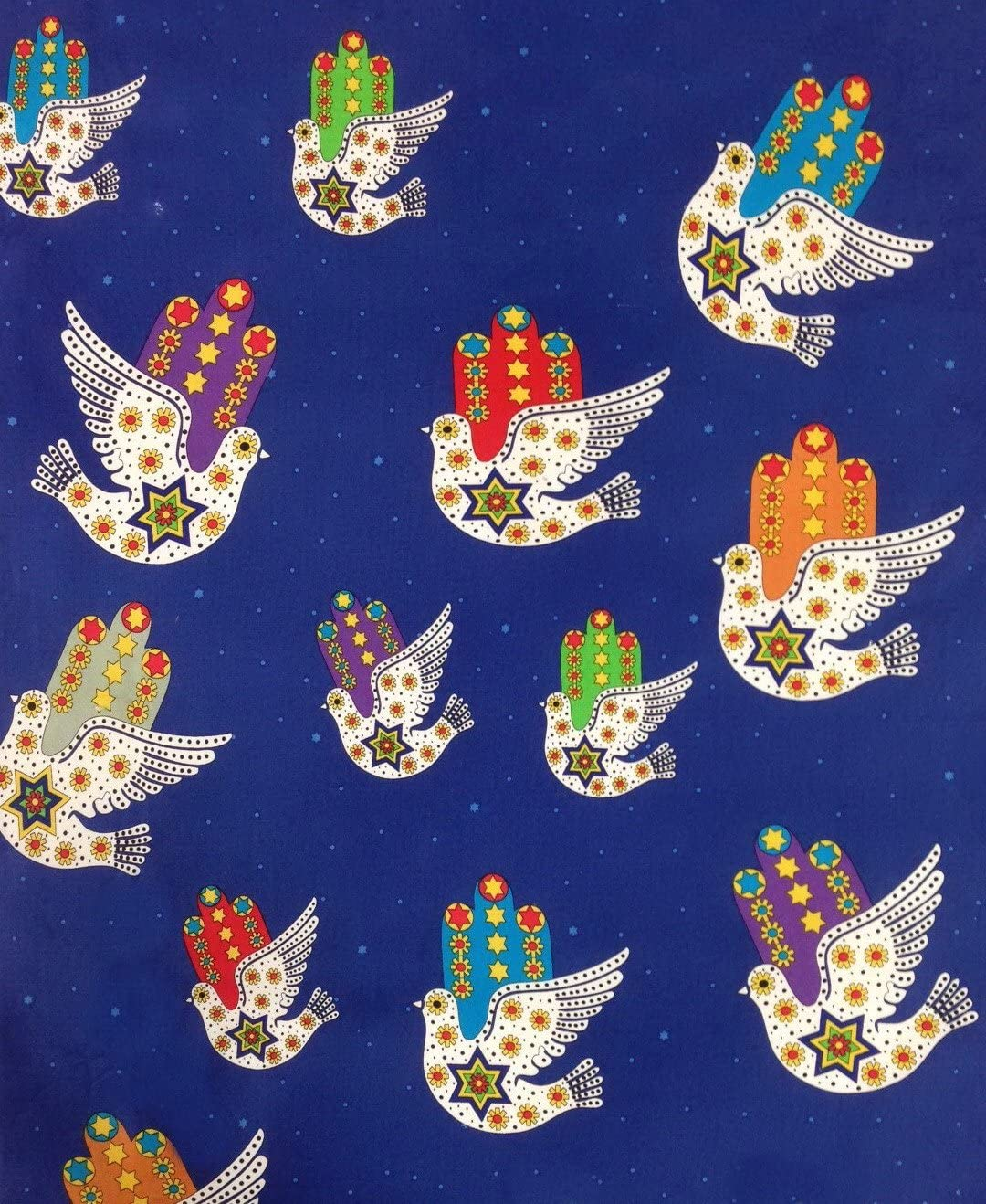 Jewish Fabric Dove Popular shop is the lowest price challenge of Peace Blue Sold Increments in 2 Yd Manufacturer direct delivery M 1