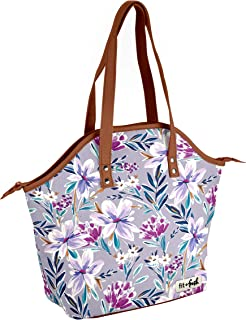 Fit & Fresh Insulated Lunch Bag Kit, includes Containers, Davenport Tulane Floral Lilac