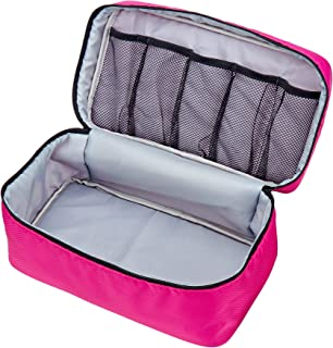Packing Organizer Bra Underwear Storage Bag Travel Lingerie Pouch Toiletry Organizer (Rosy L)