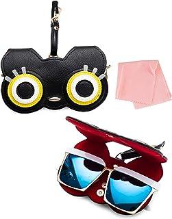 حقيبة نظارات شمسية مصنوعة يدويا للنساء من صن دي، حقيبة نظارات، صندوق هدايا، جلد بولي يوريثان ناعم، اكسسوارات زينة حقيبة يد