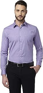 Park Avenue Violet Slim Fit Cotton Blend Shirt