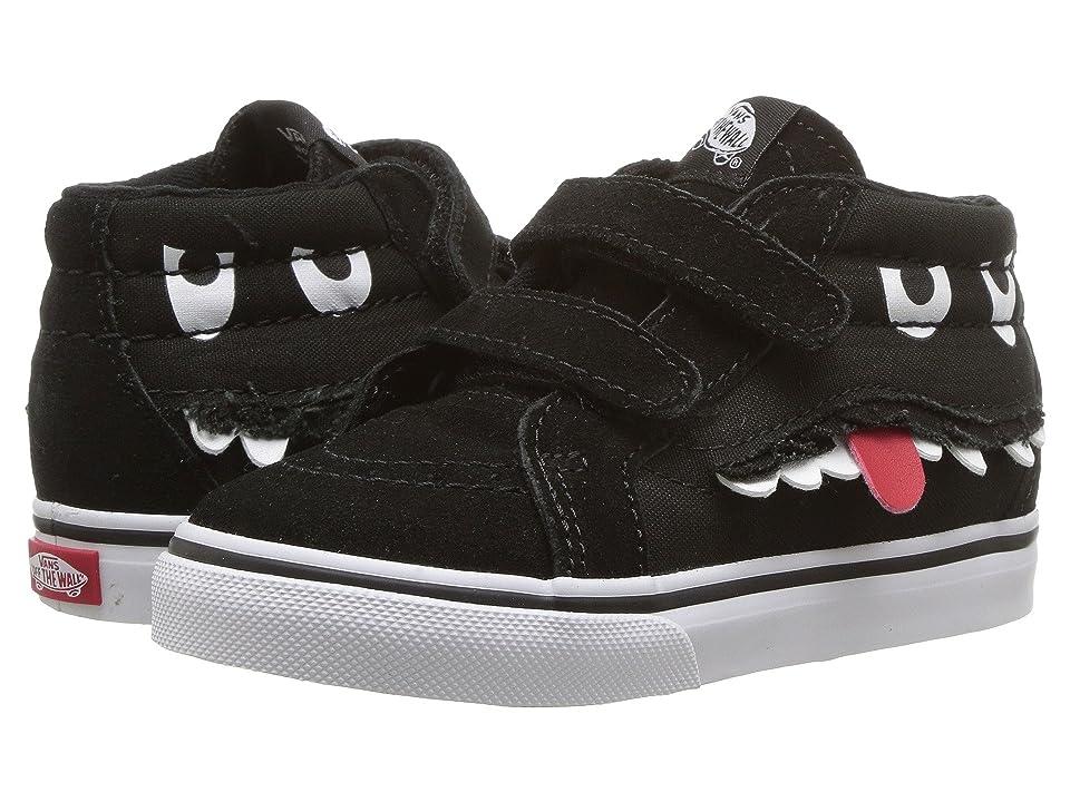 Vans Kids Sk8-Mid Reissue V (Infant/Toddler) ((Monster Face) Black/True White) Girls Shoes