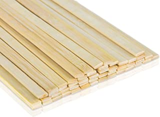 Bamboo Shop 192 Pcs Craft Sticks Extra Long 15.5 Inches x 3/8 Inch Large Popsicle Stick like Wood Strips for Crafts Food Grade