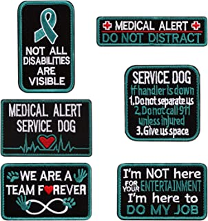 Vevins Service Dog Vest Petch - K9 in Training Hook and Loop Tag - Embroidered Morale Patches for Tactiacl Dog Harness Backpack