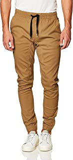 WT02 mens Jogger Pants In Basic Solid Colors and Stretch Twill Fabric Casual Pants