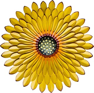 "Metal Flowers Wall Decor Outdoor Art Sun Flower for Bedroom Living Room Patio Decoration 12.2"" X 1.57"""