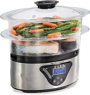 Hamilton Beach 37530A Digital Food Steamer, 5.5 Quart, Silver & Black