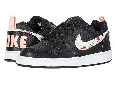 Nike Kids Court Borough Low VF (Big Kid) (Black/Pale Ivory/Pink Tint) Girls Shoes