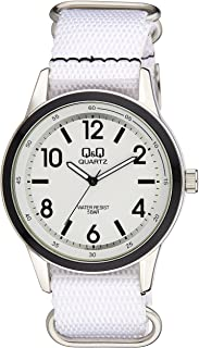Q&Q Men's White Dial Synthetic Band Watch - Q922J344Y