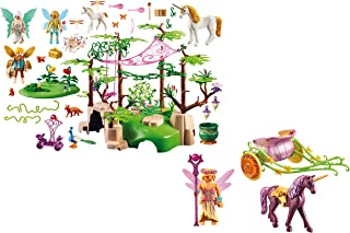 Playmobil Magical Fairy Forest and Unicorn Drawn-Fairy Carriage