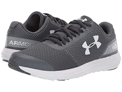 Under Armour Kids UA BGS Surge Running (Big Kid) (Pitch Gray/White) Boys Shoes