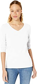 Women's Classic-Fit 3/4 Sleeve V-Neck T-Shirt