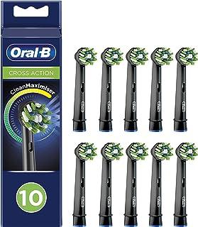Oral-B Crossaction Black Yedek Diş Fırçası Başlığı, 10 Adet, Siyah