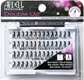 Ardell Double Up Individual Eyelashes Knot Free Naturals Long Black (12 Pack)