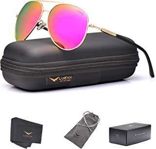 LUENX Aviator Sunglasses for Women Polarized Mirrored...