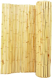 Backyard X-Scapes Natural Rolled Bamboo Fence 1in D x 6ft H x 8ft  L
