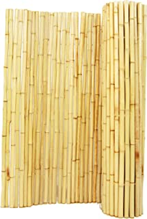 Forever Bamboo Natural Rolled Bamboo Fence 1in D x 6ft H x 8ft L