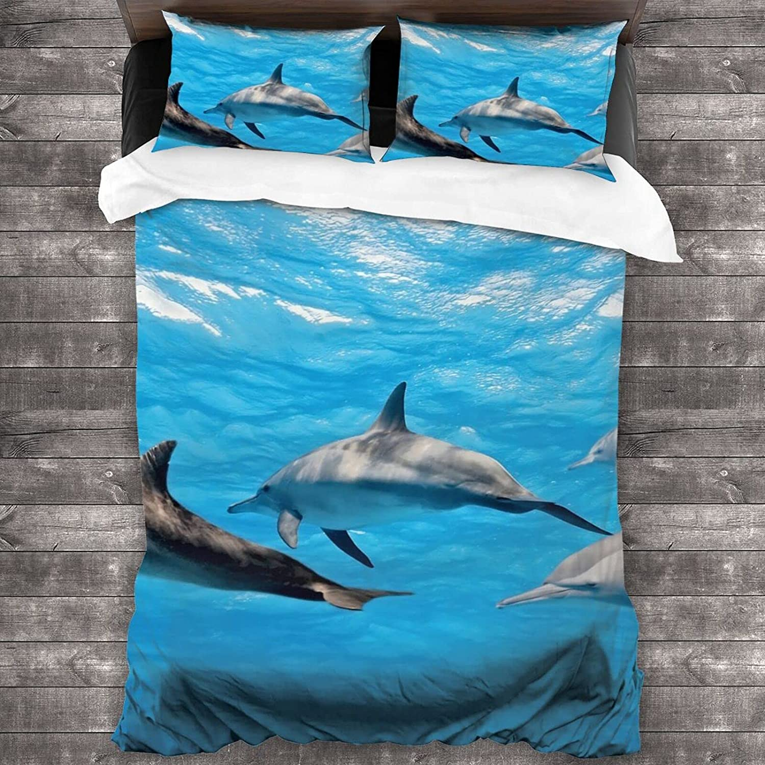 Dolphins in The Max 56% OFF Sea Bedding Set Bedspread Gi Boys Adult Purchase Cotton
