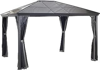 Sojag 10' x 12' Verona Hardtop Gazebo Outdoor Sun Shelter, Dark Grey