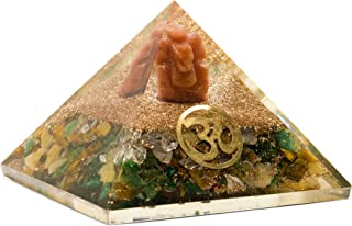 Orgone Pyramid for Money, Wealth, Prosperity Energy Generator Stone Yellow Aventurine, Green Aventurine, Clear Quartz and ...