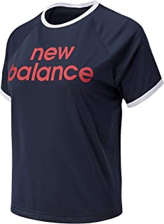 New Balance Women Achiever Graphic High Low Tee Performance Eclipse Xs