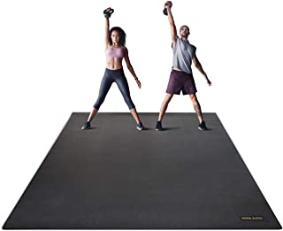 Miramat® Giga - Ultra Large Premium Exercise Mat (244 x 183cm; 7mm Thick) - Durable Non-Slip Workout Mats for Home Gym, Cr...