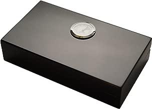 cosyhouse Humidificateur /à cigares Fin avec Couvercle et Option de Montage pour cigares de Petite//Moyenne//Grande Taille Noir