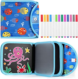 Erasable Doodle Book - Toddlers Activity Toys Kids Travel Activities Drawing Pad for Airplane Car Game Painting Set