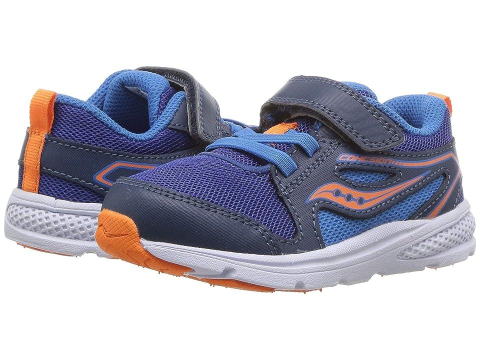 Saucony Kids Cohesion 10 Jr (Toddler/Little Kid) (Blue) Boys Shoes