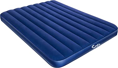 Sable Camping Air Mattress Queen Size Inflatable Air Bed with Extra Thick Flocked Top & PVC,  for Car Tent Camping Hiking Backpacking, Height 8