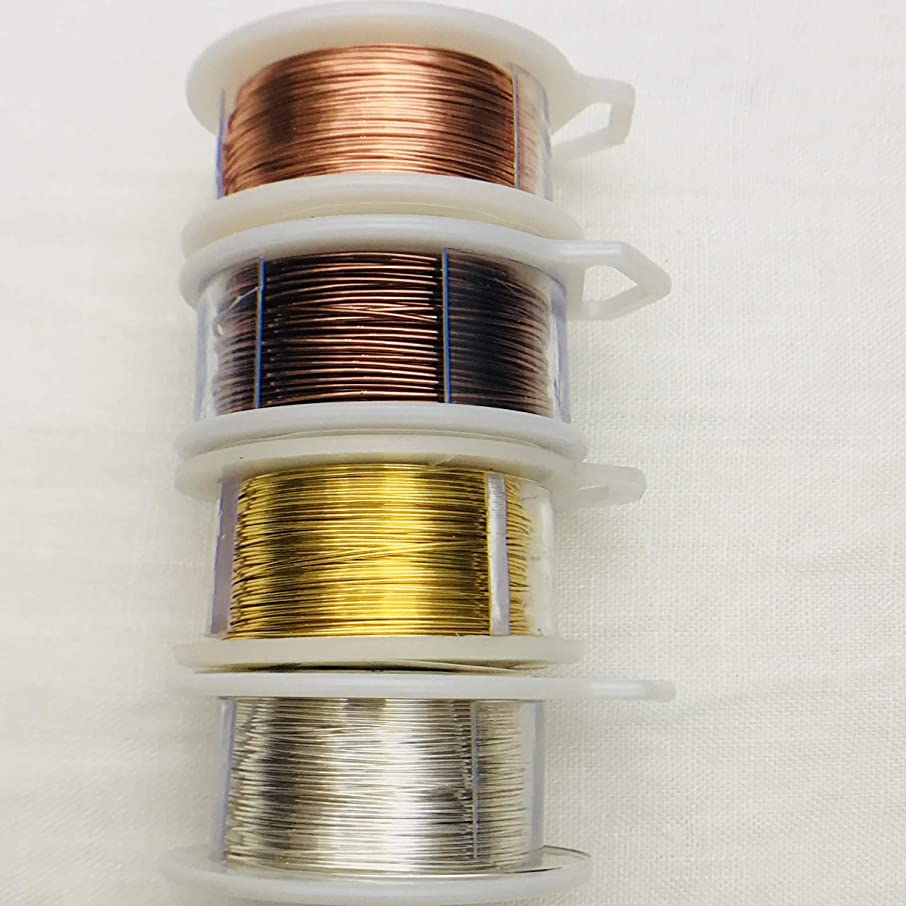 20 Gauge Wire for Craft & Jewelry Making Tarnish Resistant Silver Gold Copper Antique Multi-Pack