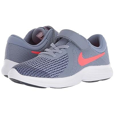 Nike Kids Revolution 4 (Little Kid) (Ashen Slate/Flash Crimson/Diffused Blue) Boys Shoes