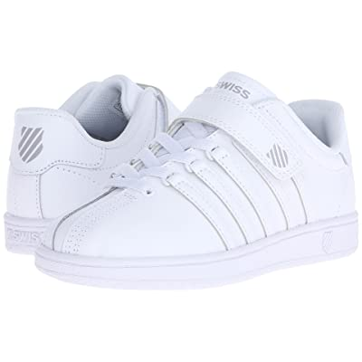 K-Swiss Classic VN VLCtm (Little Kid) (White/White Leather) Shoes