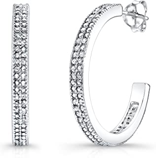 5fa8c6ed3 Victoria Kay 1/2ct Diamond Hoop Earrings in Sterling Silver (J-K, I2-