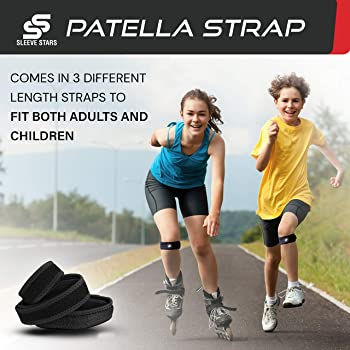 Patella Strap w/ 3 Straps for Kids, Women and Men - Swedish Brand Osgood Schlatter Brace for Runners Knee Tendonitis ...