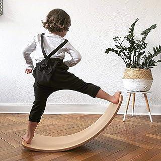 لوح التوازن، لوح خشبي متمايل من برونتوثر، 91.44 سم، مقاس كبير، لوح توازن، لليوجا للأطفال - لون طبيعي