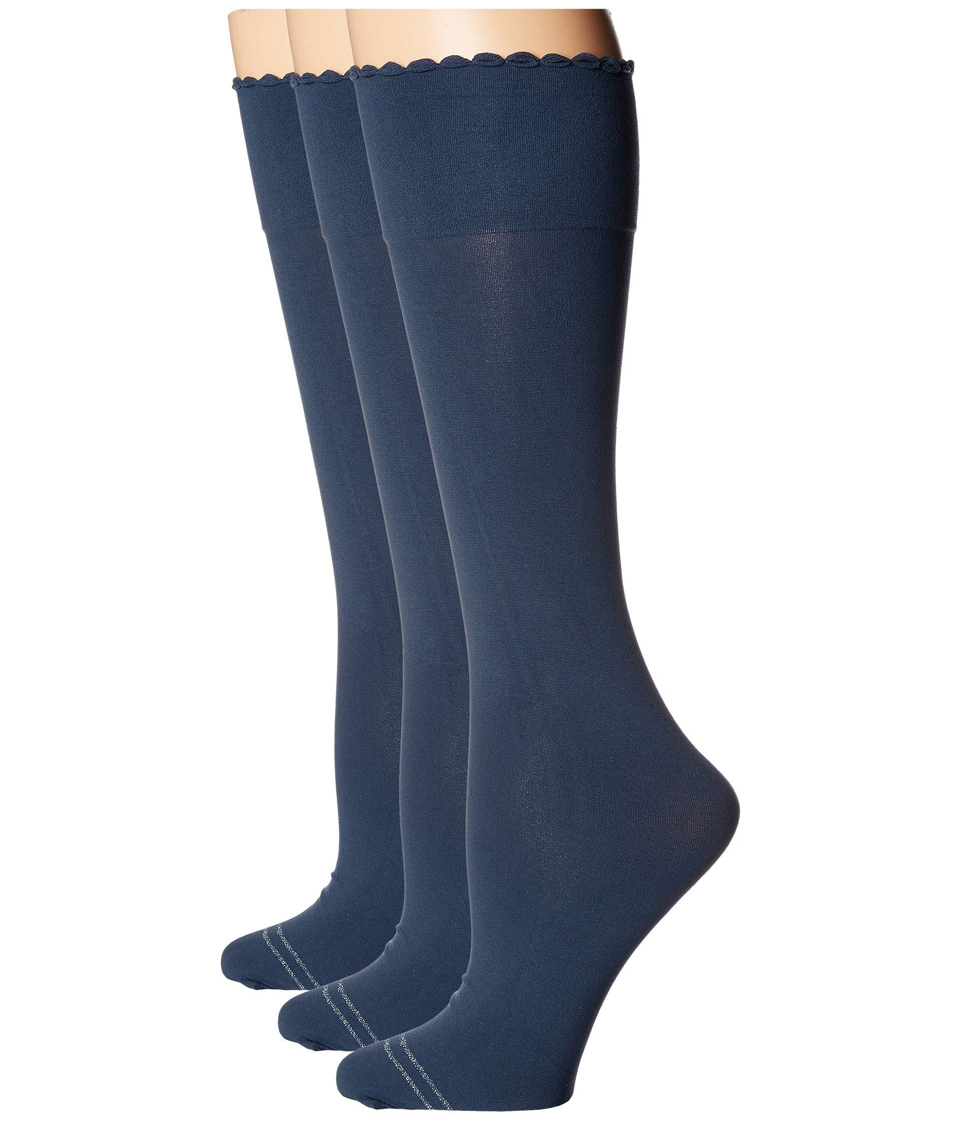 3 Blue Pack Socks pair Slate Knee Compression Opaque Hue High Graduated wSUqUvY