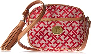 Tommy Hilfiger Crossbody Bag for Women - Canvas, Fauchia