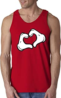 New Way 028 - Men's Tank-Top Mickey Heart Cartoon Hands