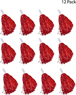 Windy City Novelties Cheerleader Pom Poms - 12 Pack