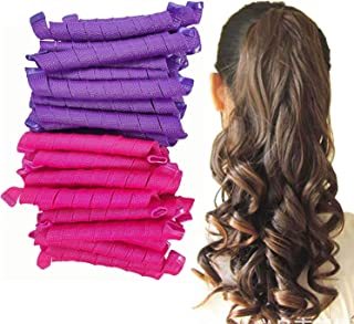 fratello home® - Hair Curlers Spiral Curls No Heat Wave Hair Curlers Styling Kit Flexible for Extra Long Hair Most Kinds o...
