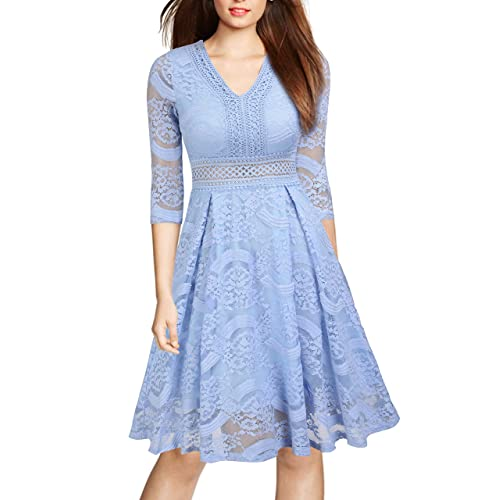 Light Blue Lace Dress: Amazon.com