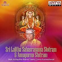Sri Lalitha Sahasranama Stotram & Annapurna Stotram