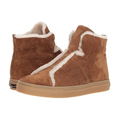 Kennel & Schmenger Basket High Suede and Fleece Sneaker (Hazel Suede/Natural Shearling) Women