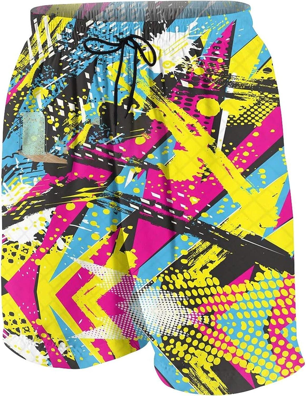 Kiwimat Boys Graffiti Beach Shorts Quick Dry Beach Pants Funny Board Shorts Teen Swim Trunks