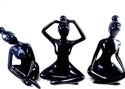 Wohnkult Yogi Sculpture en Bois de Suar Yoga 20 x 20 cm
