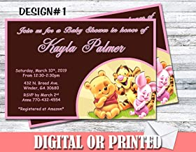 Winnie The Pooh Baby Shower Girl Boy Personalized Invitations More Designs Inside!