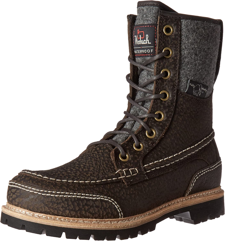 Woolrich herrar Squatch Snow Boot, Java Leather, 8 8 8 M USA  fri frakt och utbyte.